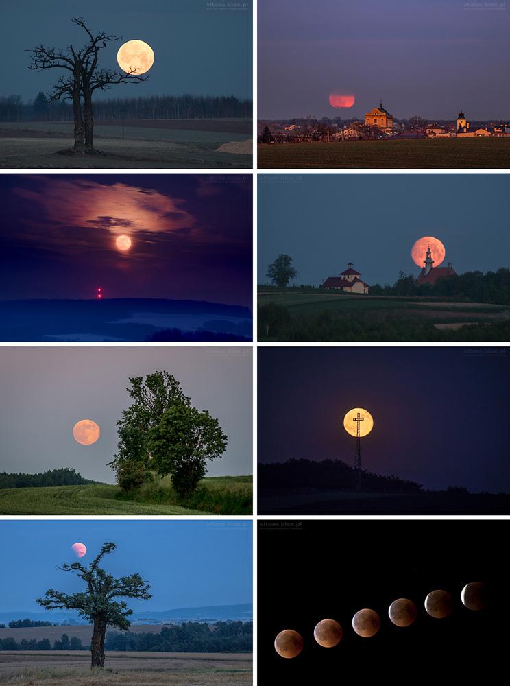 Fot. Witold Ochał, wschody i zachody Księżyca 2018