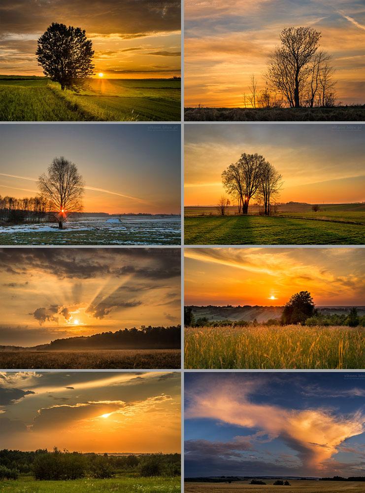 Fot. Witold Ochał, żółte wschody i zachody słońca