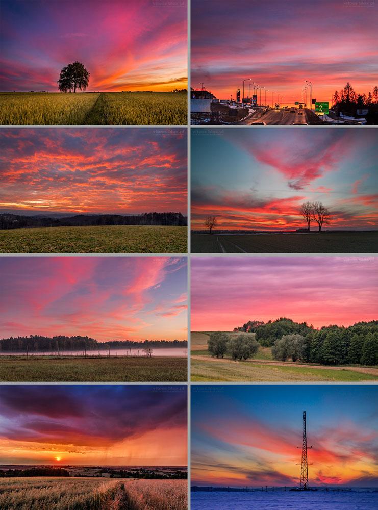 Fot. Witold Ochał, czerwone wschody i zachody słońca