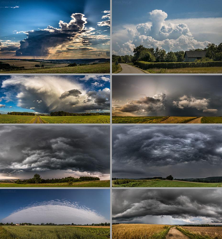 Fot. Witold Ochał, ciekawe i groźne chmury