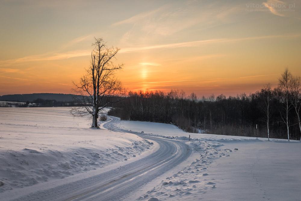 Fot. Witold Ochał, słup słoneczny, 19.01.2019