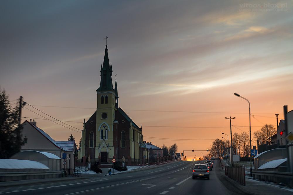 Fot. Witold Ochał, wschód słońca, Trzciana