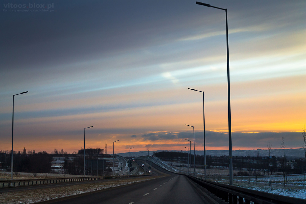 Fot. Witold Ochał, wschód słońca, Świlcza