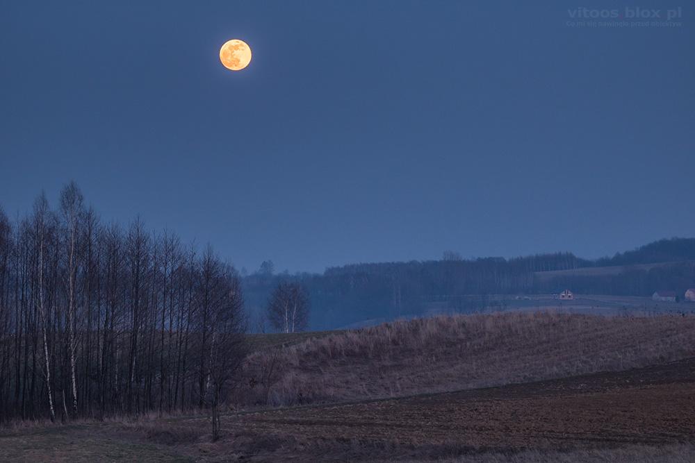 Witold Ochał, wschód Księżyca w pełni, 19.02.2019