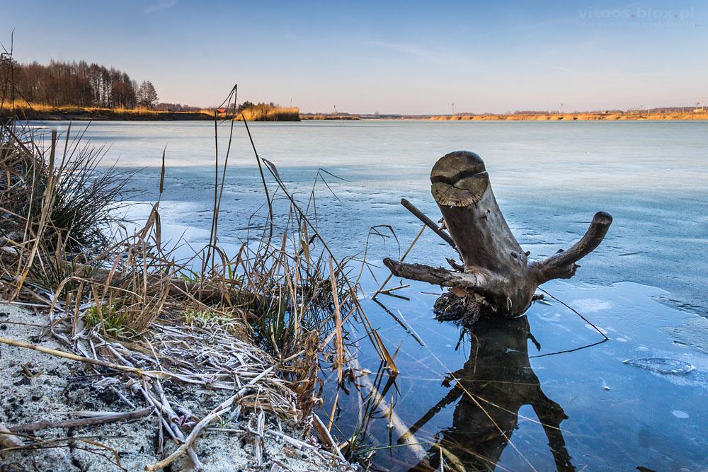 Fot. Witold Ochał, ranek na żwirowni w Czarnej Sędziszowskie