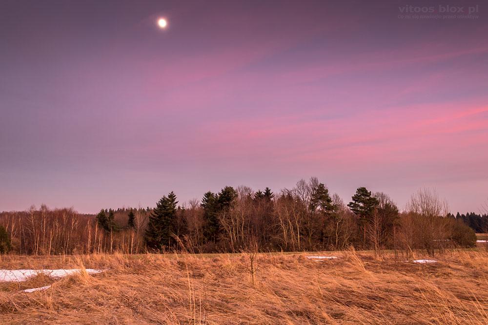 Fot. Witold Ochał, Księżyc na różowym niebie
