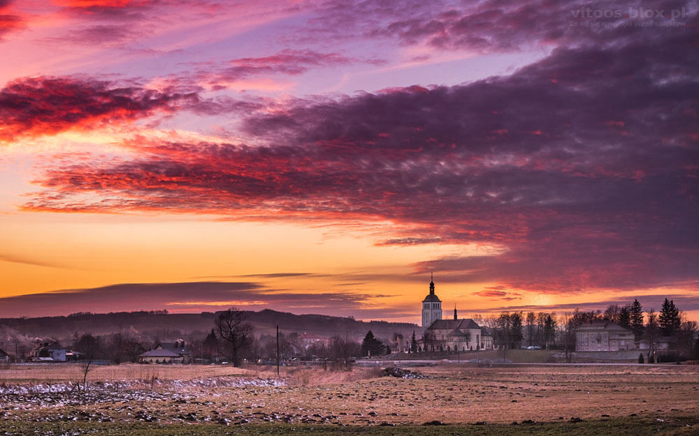 Fot. Witold Ochał, zachód słońca w Nockowej
