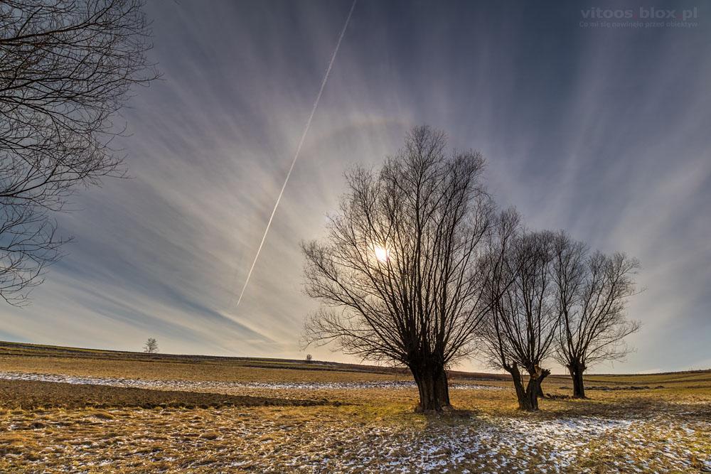 Fot. Witold Ochał, halo słoneczne 22°, Zagorzyce