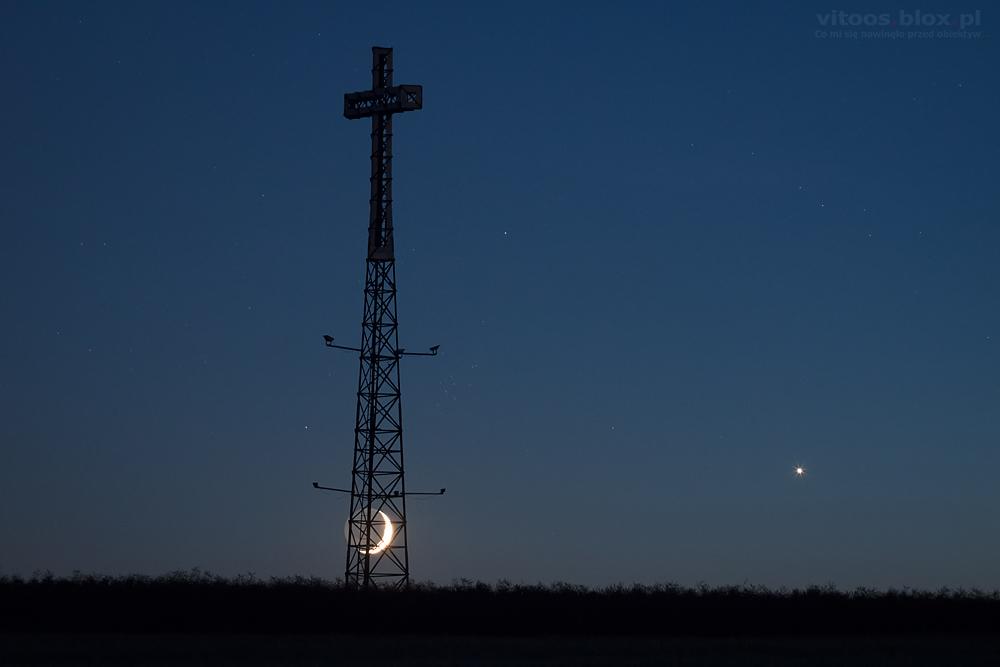 Fot. Witold Ochał, koniunkcja Księżyca i Wenus