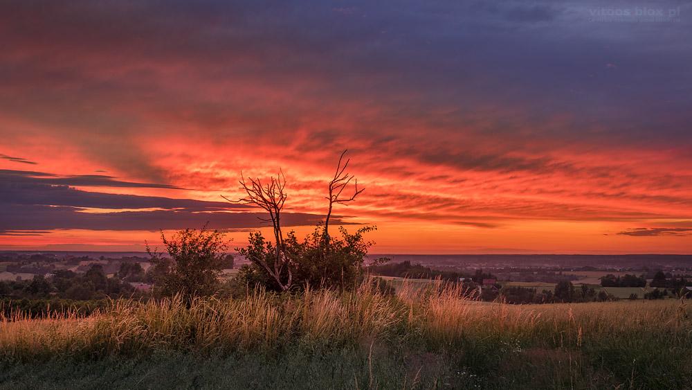 Fot. Witold Ochał, Zagorzyce, zachód słońca