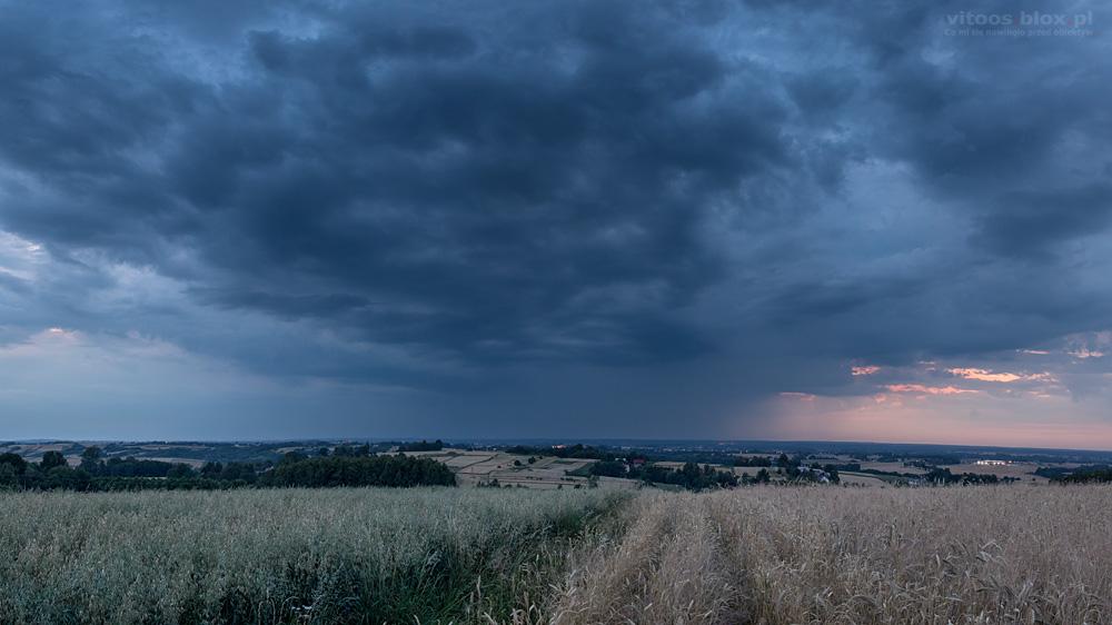 Fot. Witold Ochał, burza, błyskawice, wyładowania