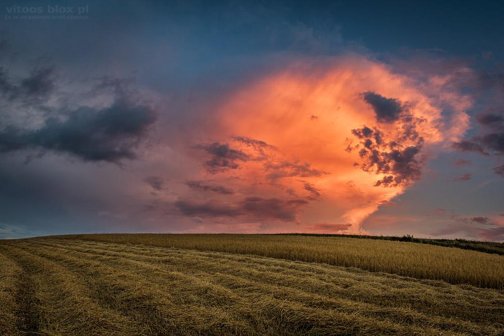 Fot. Witold Ochał, burza nad Krosnem
