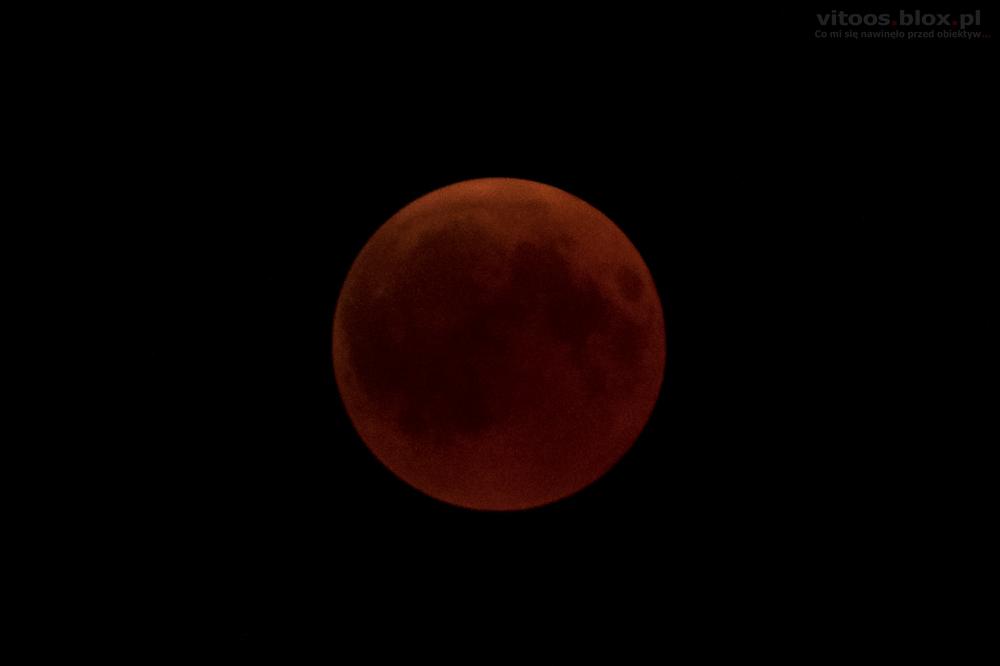 Fot. Witold Ochał, całkowite zacmienie Księżyca, 27.070.2018