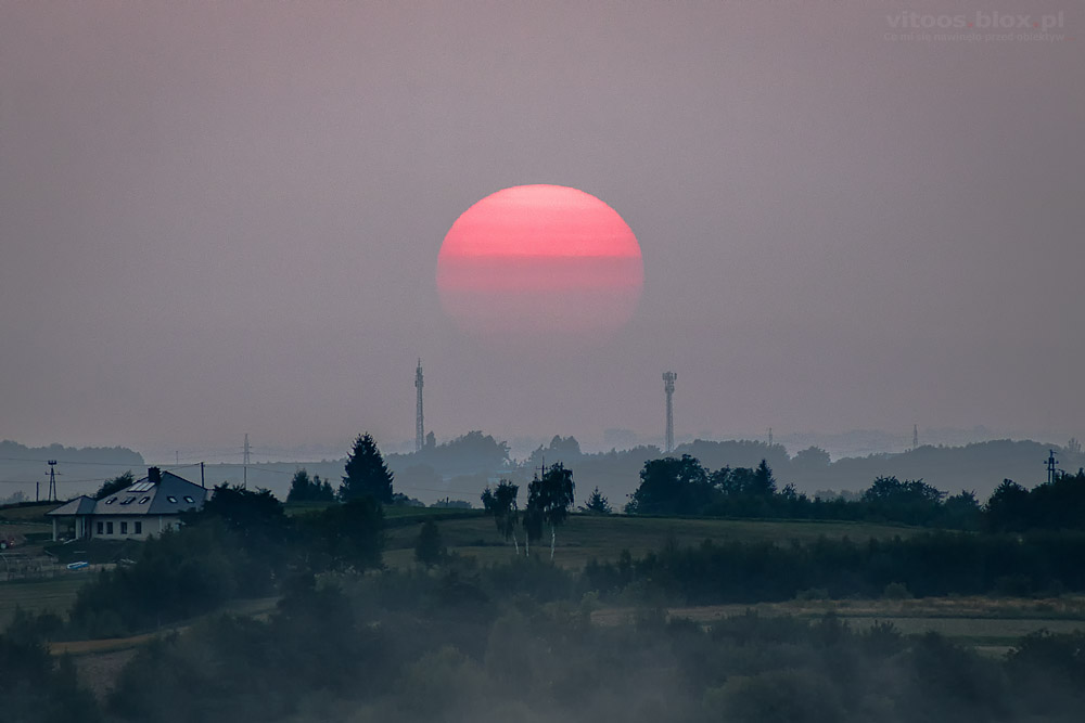 Fot. Witold Ochał, zachód słońca
