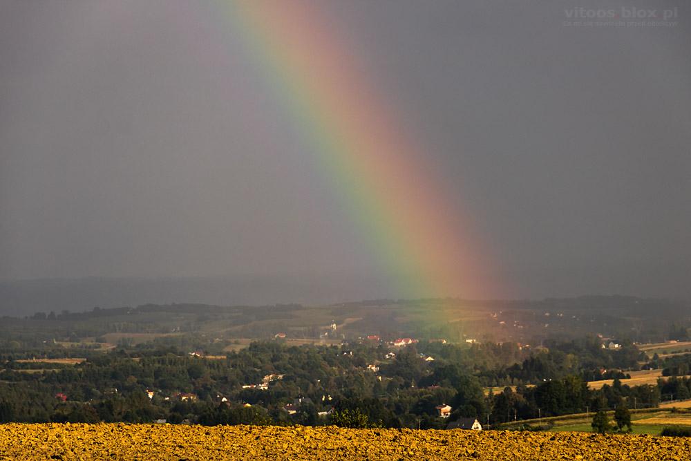 Fot. Witold Ochał, Trzciana, burza, tęcza