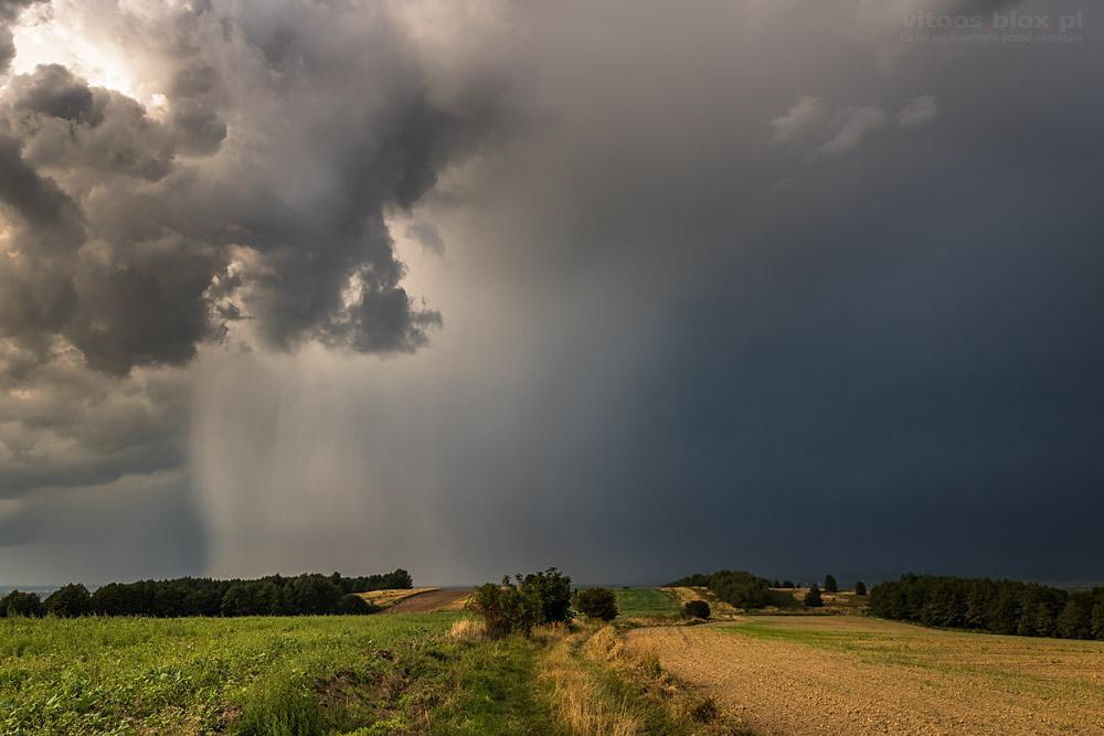 Fot. Witold Ochał, ściana deszczu, Trzciana