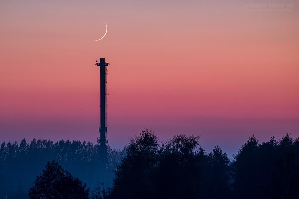 Fot. Witold Ochał, Sędziszów Małopolski, zachód Księżyca w nowiu