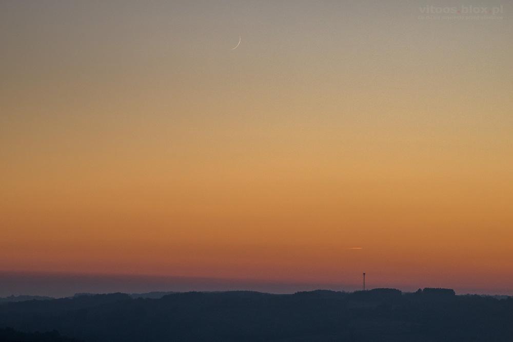 Fot. Witold Ochał, Zagorzyce, zachód Księżyca w nowiu