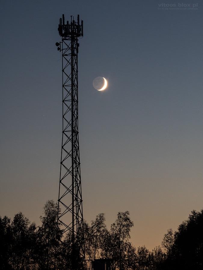 Fot. Witold Ochał, Zagorzyce, Księżyc po nowiu